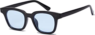 Inspired Square Sunglasses With Rivets Tinted Lens UV400