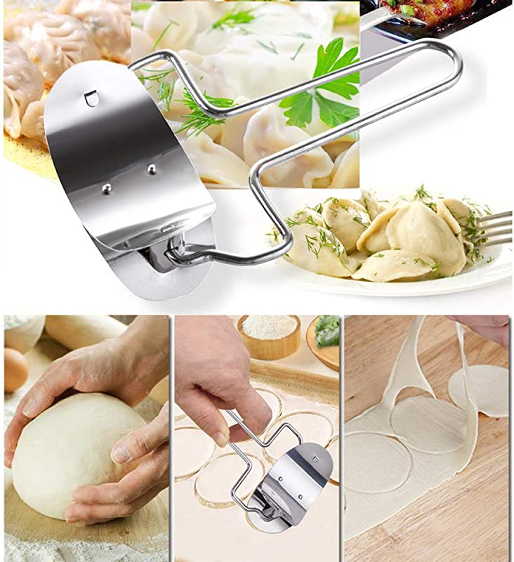 Dumpling Mould Flour Ring Cutting Machine Efaster Dumpling Skin Modeling Tools Dumpling Maker Dough Cutter Home Kitchen Dumpling Machines Peelers 1 X Flour Ring Cutting Machine