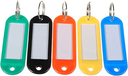 Jadebin Multicolour Plastic Keychain Luggage Label Card and Locker Key - Pack of 20
