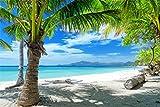 Palmen Meer Strand Beach Karibik XXL Wandbild Foto Poster