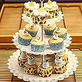 Aohuada Tortenständer Kuchenständer Hochzeitstorte Tortenstaender Cake pop Ständer Cupcake Ständer für Hochzeitsfeiern Muffinständer Halloween Deko (6pcs) - 5