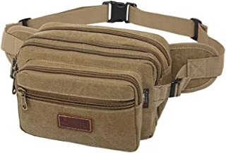 SUNSEATON Large Bum Bag, Fanny Pack with 6 Zip Pockets, High Capacity Waist Bag Ideal for Hiking Cycling Travel Holidays Festivals Outdoor Sport