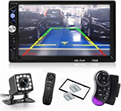 ASTSH Car Radio Touch Screen 7 HD Inch Touch Screen 2 Din in-Dash MP5 MP5 Player Audio Video Amplifier with Mirror Link FM Radio Remote Control Backup Camera