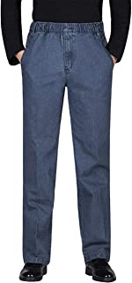 Men's Elastic Waist Denim/Twill Casual Pants