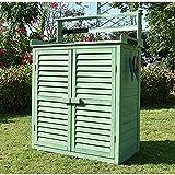HOBIRD Allwetter tragbare Holz Garten Gartenschrank Schuppen Regal Schrank Lagerung für Werkzeuge...