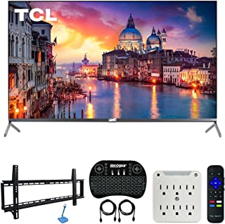TCL 55R625 55-inch 6-Series 4K QLED UHD HDR Roku Smart TV (2019 Model) Bundle with 37-70-inch Low Profile Wall Mount Kit, ...