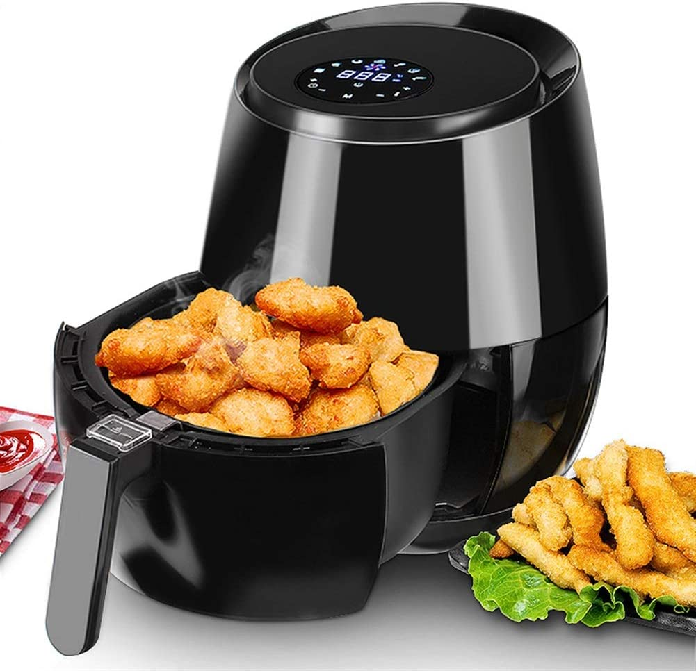 QSCVDEA online shopping 1400W Rapid rise 1350W Electric Deep LED Fryer To Digital Air