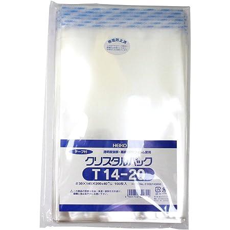 シモジマ ヘイコー 透明 OPP袋 クリスタルパック テープ付 14×20cm 100枚 T14-20 006740850