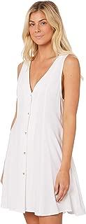 Rollas Women's Linen Milla Tank Dress V-Neck Linen White