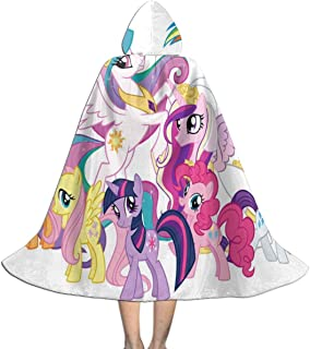 Hooded Cloak Cape My Little Pony Unicorn Personalized Party Vampires Cosplay for Kids Girls Boys