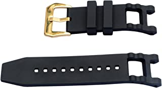 Vicdason for Invicta Subaqua Noma III Watch Bands Replacement Strap with Bukcle - Black Rubber Silicone Invicta Watch Strap
