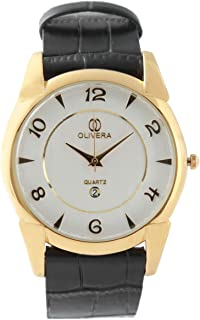 Analog Leather Watch For Men by Olivera, OGL2006
