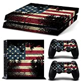 MATTAY PS4 Whole Body Vinyl Skin Sticker Decal Cover for Playstation 4 System Console and Controllers - The Flag of the United States