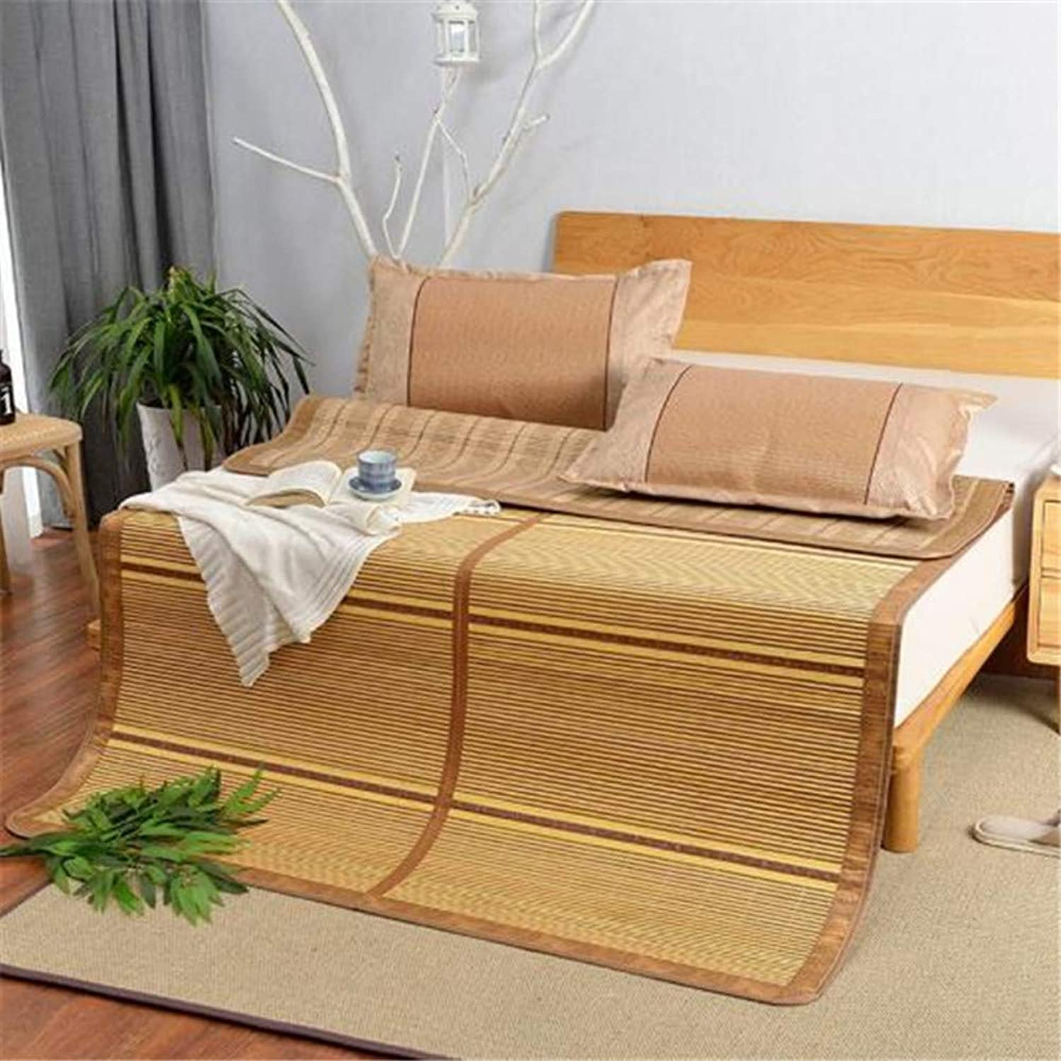Comfortable Summer Sleeping Mat, Collapsible Double-Sided Bamboo Mat Smooth Cooling Air Conditioning Mat Student Dormitory Mat-a 90x200cm(35x79inch)