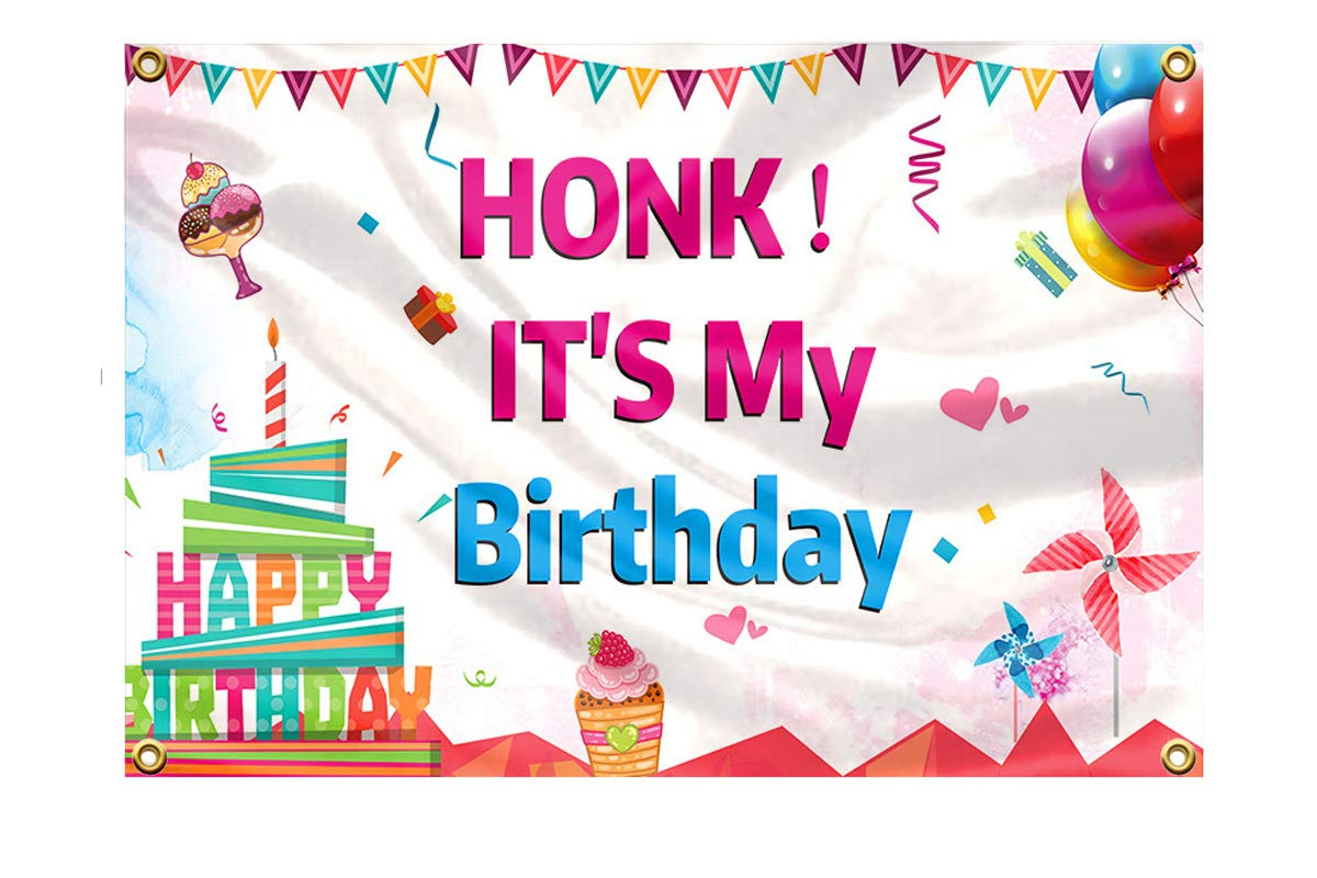 Happy Quarantine Birthday Party Sign Party Supplies Decoration for Outdoor 9.8 x 1.6 ft Large Honk Its My Birthday Quarantine Birthday Banner Decorations for Girl Boys Kids Funny Quarantine Birthday Banner