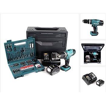 Makita DHP 453 STX - Taladro atornillador de impacto (18 V, 42 Nm, incluye batería de 5 Ah, cargador y 100 piezas) Juego de brocas + caja Makbox.: Amazon.es: Bricolaje y herramientas