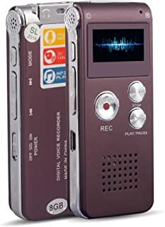 ACEE DEAL Digital Voice Recorder 8GB, Audio Voice Activated MP3 Player with Android USB Port, Multifunction Recorder Dicta...
