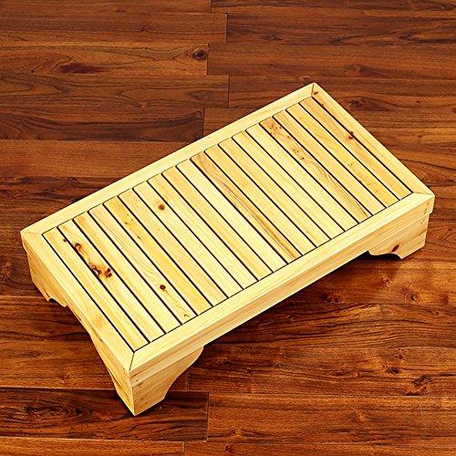 Jian E- Effen houten bank bed voetenbank, zwemvoetenbank kinderen nachtkastje 66X33cm //-