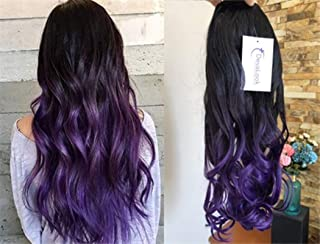 purple ombre hair extensions clip in