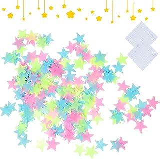200 stuks Glow Stickers Sterren Donkere sterren Stickers Fluorescerende Sterren Muurstickers Lichtgevende sterrenstickers ...