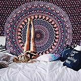 Alishomtll Mandala Wandbehang Bohemian Wandteppich Tapisserie Yoga Hippie psychedelisch Deko Tuch groß Tischdecke 150 x 130cm