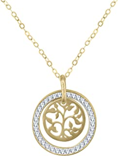Gold Plated Sterling Silver Pendant Necklaces for Women - Great Gift for Her, Women, Wife, Girlfriend, Sister, Teenager, Girls and More!