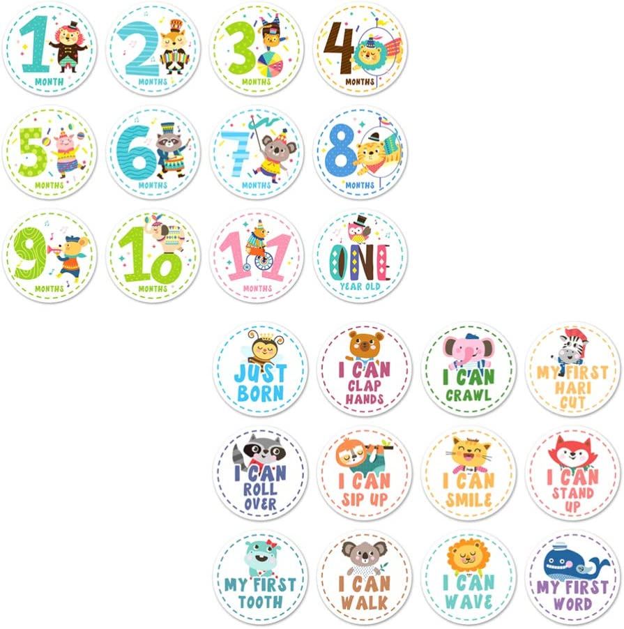 NUOBESTY Baby Milestone Stickers Dealing full price reduction S Monthly excellence 24pcs