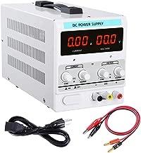 Yescom 110V AC 30V 10A DC Power Supply Precision Variable Digital Adjustable w Clip Cable