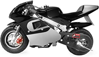 XtremepowerUS 40CC Mini Gas Pocket Bike Motorcycle EPA 4-Stroke Engine Handlebar Grip Padded Seat (Black)