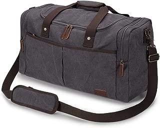 Travel Canvas Duffel Tote Weekender Bag Shoes Compartment Shoulder Strap