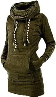 Womens Hoodies Casual Tunic Shirt Pullover Plain Sweatshirts with Pocket