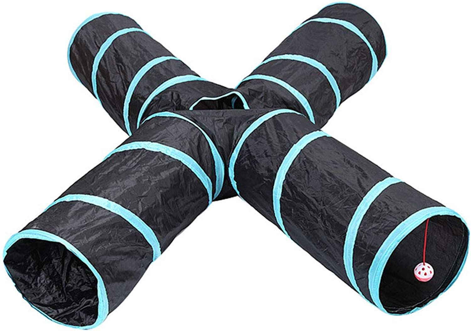 Foldable 4Way pet Game Tunnel Toy, pet Channel Toy, Suitable for Outdoor and Indoor