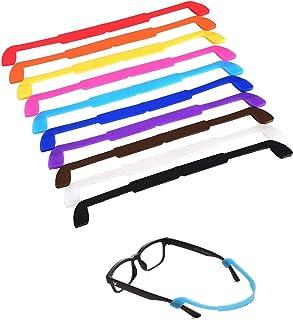 LEEQ 10 Pezzi Cinturino di Silicone di Occhiali da Vista Fermaocchiali da Sport Anti-scivolo Elastico di Occhiali da Sole ...