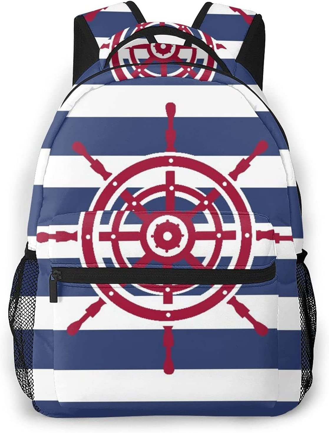 Casual Max 64% OFF Backpack,Of Ship Steering Wheel Fees free!! Stripped,Tr Icon On A