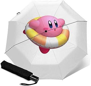 星之卡比2 折叠伞 一键自动开合【最新版&双层结构】耐强风 超防水 210t高强度玻璃纤维 防紫外线 隔热 结实 带伞套
