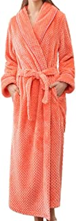 Ashtray - Couple Models Ladies Winter Long Thick Yukata Dressing Gown Bathrobe Home Clothes Shawl Long Sleeved Robe Coat,Size:XL,Colour:Blue (Color : Orange, Size : M)