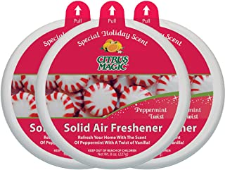 Citrus Magic Limited Edition Holiday Fragrance Solid Air Freshener Peppermint Twist, Pack of 3, 7-Ounces Each