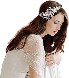 Butterme Catena coronale delle donne di cristallo del diamante sposa sposa l'accessorio dei capelli della fascia capa di u...