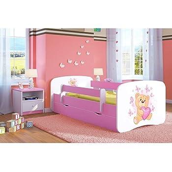 09 La sirena, 180x80 + Cassetto Letto per bambino Cameretta per bambino con materasso Cassetto ACMA II