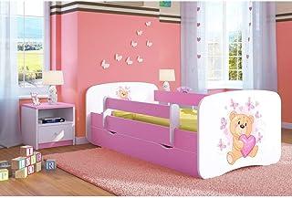 comprar comparacion Cama infantil Rosa Cama para niños Cama individual con colchón y cajón - BD | Perfecto para niñas | Pinturas ecológicas ut...