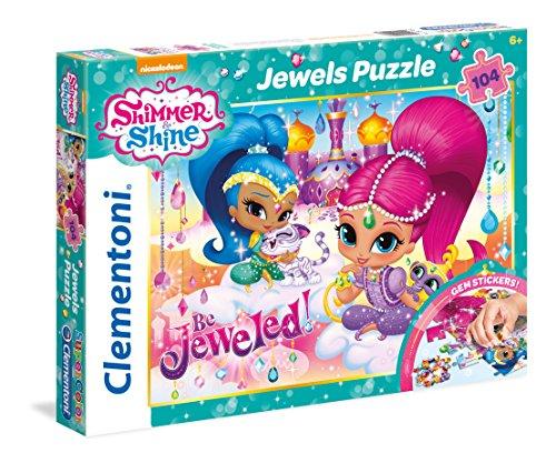 Clementoni - Puzzle 104 Piezas con Joyas Shimmer&Shine (20143)