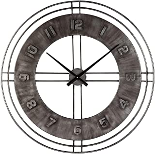 Ashley Furniture Signature Design - Ana Sofia Industrial Wall Clock - Casual - Antique Gray