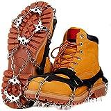 アイゼン 19本爪 チェーンアイゼン 簡単装着 収納袋付き 滑り止め 転倒防止 男女兼用 (L)