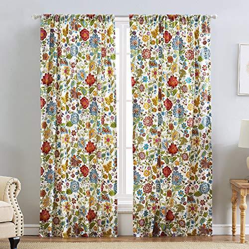 Greenland Home Astoria Curtain Panel Set, 84-inch L, White