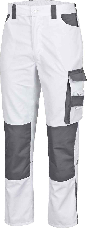safetY&more Normani Extreme - Pantalón de Trabajo (Talla S), Color Blanco y Gris