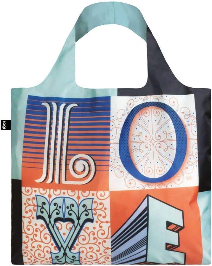 LOQI Artist Martina Flor Reusable Love Grocery Super-cheap Bag One Milwaukee Mall Size