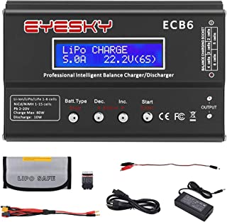 LiPo Charger Balance Discharger 1S-6S Digital Battery 80W 6A Professional Battery Balance Charger Discharger for LiHV LiIon Life NiCd NiMH PB LiPo Charger