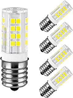 E17 LED Bulb Microwave Oven Appliance Light Bulb Intermediate Base Bulb 4W (40W Halogen Bulb Equivalent)) Daylight White 6000K Non-Dimmable 110 v-130v (Pack of 4)-Dimmable 110 v-130v (Pack of 4)