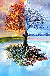 Diamond Painting Kits for Adults by Paint With Diamonds XL 60x40cm 'Earth Wind Fire' Full Canvas Square Diamonds (Plus Free Premium Diamond Pen)