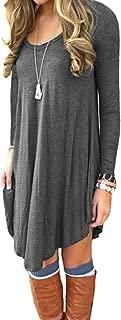 Best women's long sleeve casual loose t shirt dress Reviews